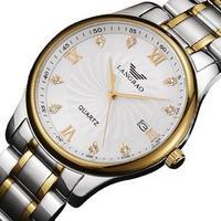 Switzerland Lang Po thin waterproof quartz watch stainless steel men