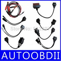 Quality A+ Car Cables For TCS CDP PRO Plus Professional Diagnotic Tool 8Pcs Full Set Car Adapters