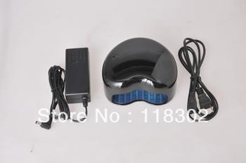 Free Shipping Heart-shape Black UV Lamp 15W 220(EU Plug) -110V(Flat Plug) Gel Curing Nail Art LED+ CCFL lamp,HT12L-SP1