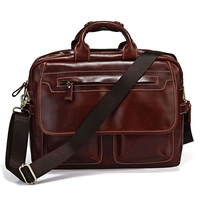 Hot Sale Genuine Leather Handbag Shoulder Bag Men's Briefcase Laptop Computer 5PCS/LOT #7085X