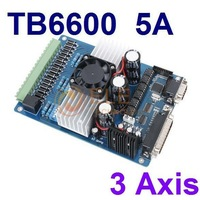 3 Axis Stepper Driver Controller TB6600 Stepper Motor Driver Board 5A DC12-48V CNC Motor Driver Kit Free Shipping 1PC