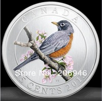 DHL free shipping wholesale 500pcs/lot canada silver coins American Robin round sovenir coin in stock