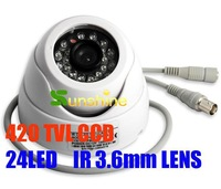 """Promotion Price !!! 420TVL 1/3"""" Sony Color CCD  IR Indoor Dome Camera  CCTV Camera Free Shipping"""
