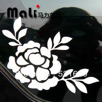 Charming lotus flower lamp post wealth/hood eyebrow lotus car stickers car decorative stickers