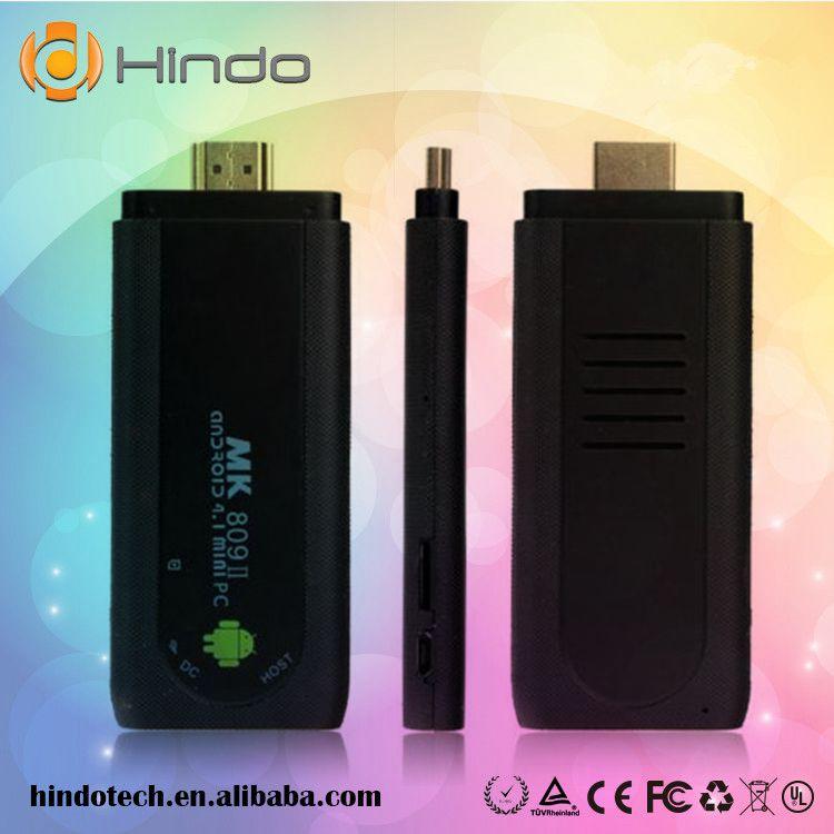 FREE SHIPPING MK809 II Mini PC google Android 4.2.2 RK3066 Cortex A9 Dual Core 1.6GHz Stick TV Dongle MK809 II(China (Mainland))