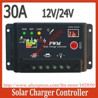 30A Solar Charge Controller Solar regulator 12V 24V Solar panel charge regulator with led display