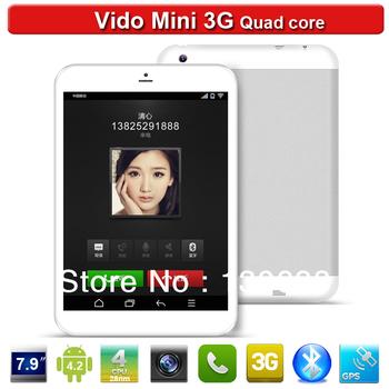 """Vido Mini 3G 7.85"""" IPS Mini Pad Tablet PC MTK8389 Quad Core 3G WCDMA 2G GSM GPS WiFi Bluetooth FM HDMI 5.0MP Camera"""