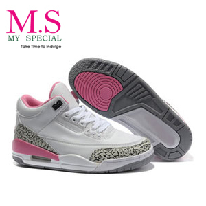 Free Shipping 2013 Fashion Cheap Name Brand Sneakers Wedges J3 Retro Basketball Womens Running Shoes With Tag Box HQD1003