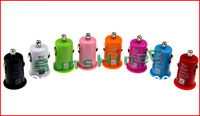 Hot Selling!!!Car Charger Mini Universal USB Car Charger For Iphone 4G 3GS iPod Samsung GALAXY Note 10pcs/lot [CA-005]
