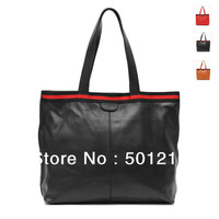 In Stock Bag, Genunine Real Cow Women Lady Leather handbags simple shoulder portable handbag Big shopping bag