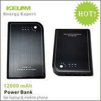 KELOM Power Bank For Iphone / Samsung / Ipad 12000mAh Capacity Customized Charger Free Shipping