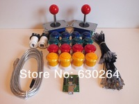 Arcade parts Bundles kit With Joystick,Pushbutton,Microswitch,2 player USB to Jamme board to Build Up Arcade Machine