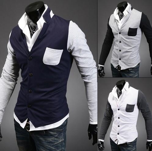 White Sweater Men Men Vest Cardigan Sweater