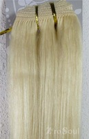 "Zero Soul Hot Sell:18""-28"" Indian Virgin Remy Weft Hair Straight Human Extension 100g #60,Platinum Blonde,Free Shipping"