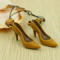 Free Shipping Wholesale Cute Mini High Heels Shoes Mobile Phone Chain, Creativity Personality Design Gifts,Fashion Key Chain