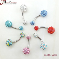 Fashion Piercing Accessories 316 Medical Steel Belly Dance Accessories Navel Ring Umbilical Ring Umbilical Nail