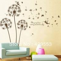 Dandelion and Elf TV/Sofa  Wall Stickers Wall Decoration Romantic Applique Dancingly