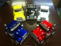 Fashional Design Truck Car Mini Speaker for Laptop Phone Computer USB Support FM 10pcs per lotFree Shipping