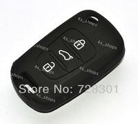 Black Silicone Flip Folding Key Case Cover Holder Protecting Bag For Kia K2 K5 Sportage Sorento SOUL Pro Ceed Cerato 3 Buttons