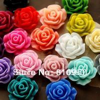 wholesales 100pcs/lot 19mm resin flower Pendant,resin cabochon,vintage plastic for DIY jewelry decoration