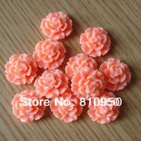 Wholesales 22mm Random Mixed Colors 100pcs Resin  Flower Cameo Resin Pendants DIY Jewelry Accessories