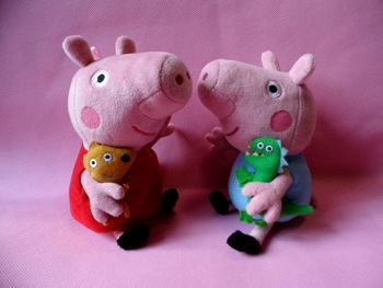 Wholesale peppa pig & george pig pink cartoon stuffed plush cute kids toddler toys