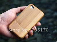 PriceQuality,Retail,Brand new Real Natural Bamboo Case for iPhone 4 4G 4S ,with original retail packaging