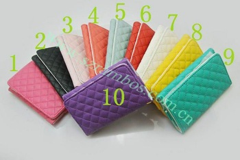 100 piece PU Leather Wallet Case  for iPhone 4 4S 5 5S with Wristlet Strap