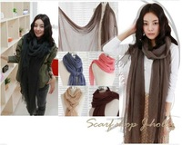 Fedex Free shipping, 190*90 cms, cotton blends scarf, fashion shawl,cheap scarves, mixed style order is OK! New arrival!