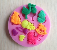 Free shipping 1PCS baby shower party fondant molds,silicone mold soap,candle moulds,sugar craft tools,chocolate moulds,bakeware