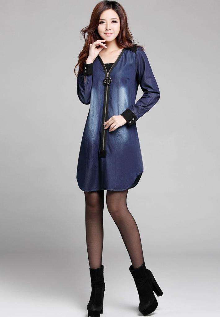 Amazing Club Dress 2015 New Blue Jean Dresses For Women Fashion Casual Denim