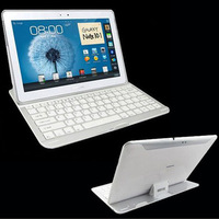 Aluminum Wireless Bluetooth 3.0 Keyboard Case Cover Stand for Samsung Galaxy Note 10.1 N8000 Tablet PC , Free / Drop Shipping