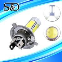 S&D Brand 12pcs H4 High Power 7.5W 5 LED Pure White Fog Head Tail Driving Car Light Lamp Bulb parking