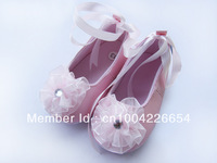 2Colors 3sizes infant toddler ballats flats baby girl Mary Jane Christening walking flower baby shoes X04