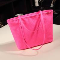New casual candy color female tote bag European retro Egypt grain portable messenger bag women shoulder handbag #0090