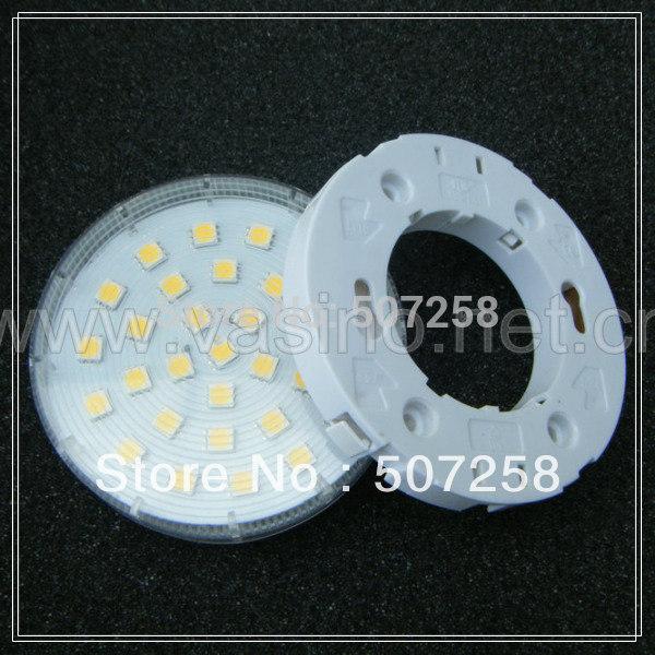 10pcs/lot free shipping GX53 LED cabinet lamp WITH GX53 lampholder, 30pcs5050SMD, 220v voltage 6 watt(China (Mainland))