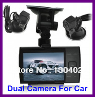 """Freeshipping S3000A 720P 3.5"""" LED Screen Car DVR Dual Camera, Motion Detection Cycle recording Night Vision Seamless Recording"""