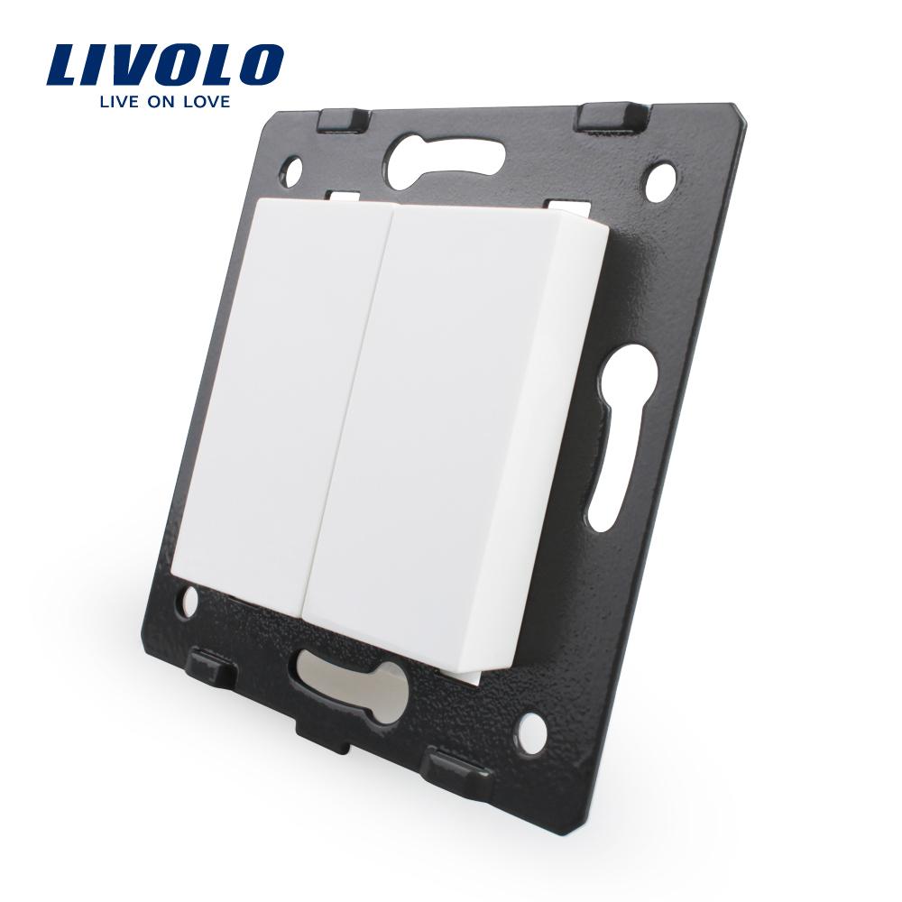 Free Shipping, Livolo White Plastic Materials, 45mm*22mm, EU Standard, Function Key For Blank Socket(China (Mainland))