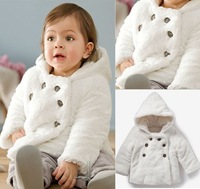 Retail 1sets free shipping top quality! 2013 baby girls y girl overcoat beautiful girl's jacket  winter infant outerwear 2-6yrs