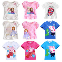 2013 New children's t-shirt 5pcs/lot cartoon clothing 100% cotton  short sleeve T-shirt,Children's clothing, free shipping