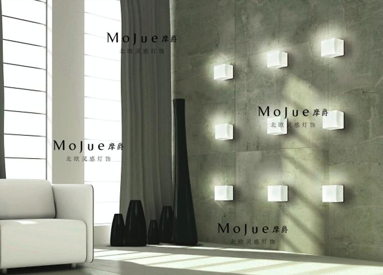 Moderne korte mode persoonlijkheid ijsblokjes wandlamp bed klassiek wandkandelaar verlichting - Deco grijze muur ...