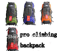 freeshipping Professional Unisex women men backpack mountaineering Hiking climbing bag travel big capacity bags 60L 5colors