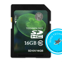 Free shipping 100% Genuine New SD Card Original Class 10 HC Transflash Memory Card 256M 16G 32GB For Camera DV  Tablet  DVR  GPS