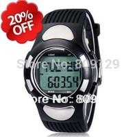 2013 New 1005 Multifunctional Digital Strapless Heart Rate Monitor Watch Pedometer Stopwatch Black