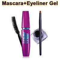 Free Shipping Eye makeup Kit THE FLASILES VOLUME EXPRESS BLAKEST BLACK Eye Mascara