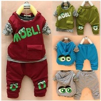 2013 Spring new children's clothing Male and female baby cartoon long-sleeved T-shirt / cotton trousers / vest set Baby Clothes