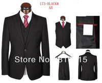 Hot Selling Men Brand Design Three Pieces Formal Business Suits Free Shipping