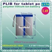 [L174] 7.4V,6800mAH,[5596119] PLIB (polymer lithium ion battery) Li-ion battery  for tablet pc,GPS,mp3,mp4,cell phone