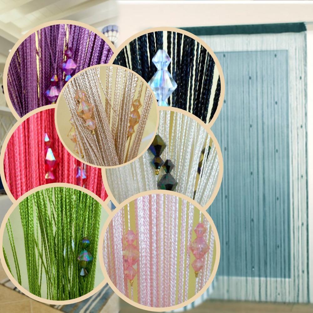 Cadeia porta cortina Fly divisor de tela do janelas cegos borla corte ao tamanho(China (Mainland))