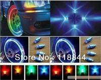 4 pcs/lot Car Decoration Drl Daytime Running Light Wheel light tire valve tap lamp flashing Multi Color LED Car Light